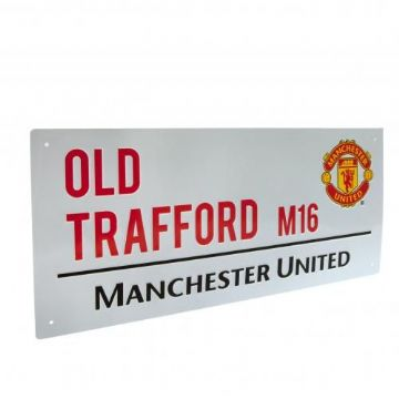 Manchester United Old Trafford Street Sign